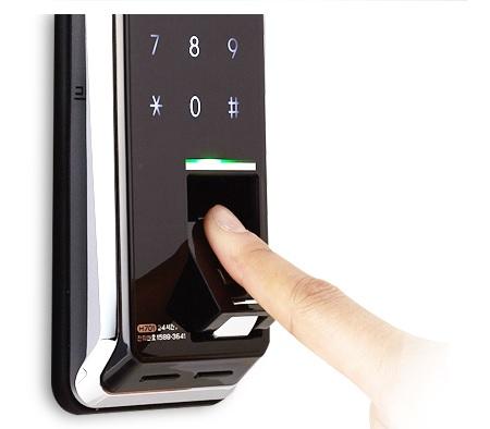 купить накладной электронный биометрический замок