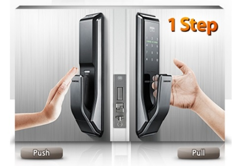 Врезной карточный push and pull замок Samsung SHS-P717 (SHS-P910)
