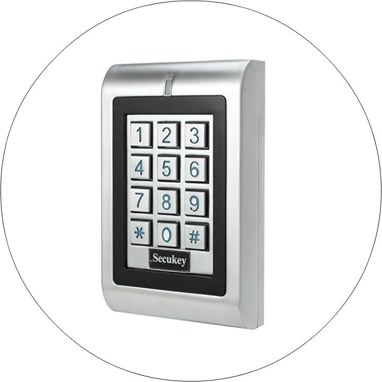 СКУД с доступом по карте и коду с замком для установки на входную дверь