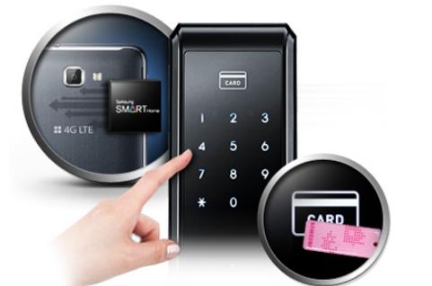 Врезной замок SHS-P718 можно открыть не только при помощи ввода пароля и отпечатка пальца, но и при помощи пластиковой карточки